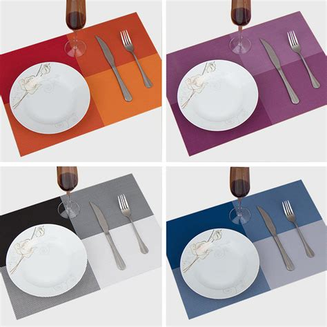 inspirational red dining table mats light of dining room 4pcs lot 30 45cm square placemats dining tables place mats