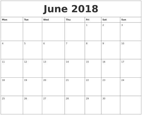 june 2018 calendar free printable template download free calendar