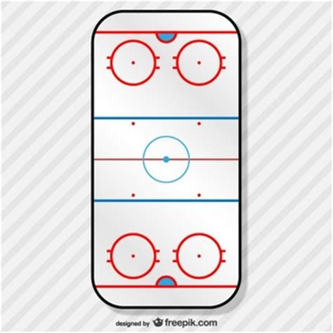 vintage hockey card template hockey badges and cups vector free