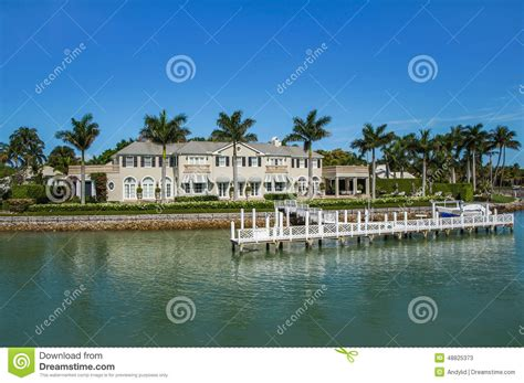 boat house naples fl waterside home in naples florida editorial stock photo