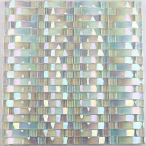 Glass Wall Tiles Glass Mosaic Tile Interlocking Arched Glass Tile