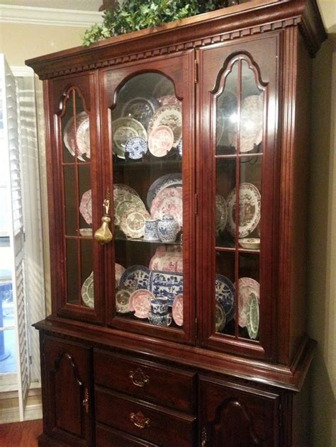 Dark Stained Kitchen Cabinets by Cherry Dining Table Chairs China Cabinet Should I
