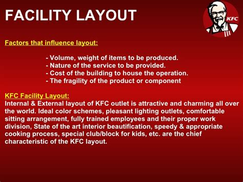 product layout of kfc kfc
