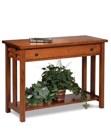 sofa table with drawer kascade open sofa table with drawer amish direct furniture