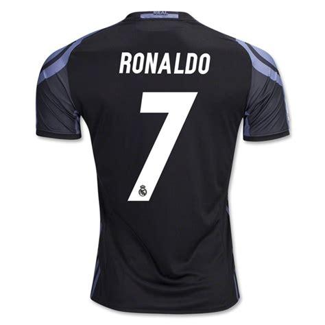 Jersey Bola 7 Ronaldo Real Madrid Third 17 18 Grade Ori Font Ucl new ronaldo 7 real madrid third soccer jersey 16 17