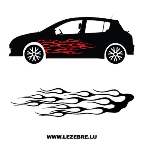 Auto 5 Stickers sticker deco flamme auto 5