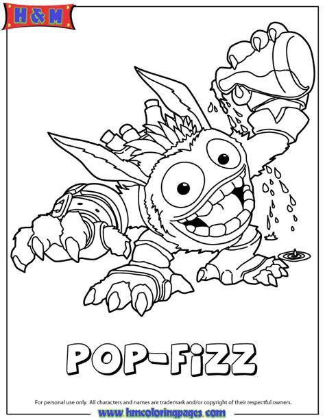 Pop Fizz Coloring Pages free coloring pages of skylanders sonic boom