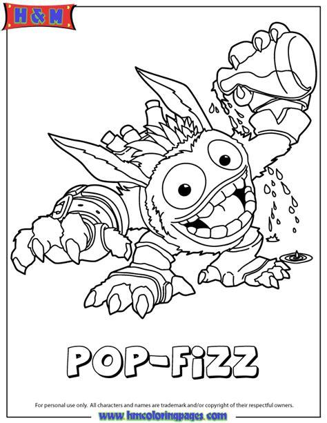 skylanders giants magic series1 pop fizz coloring page h