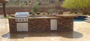 How To Build A Custom Kitchen Island patio portfolio phoenix amp scottsdale built in bbq grills