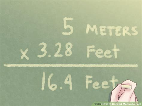 4 meters to feet how to convert meters to feet with unit converter wikihow