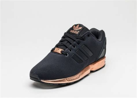 black and gold adidas sneakers shoes black and gold black gold adidas adidas zx flux