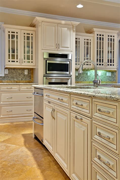 antique white cabinets kitchen traditional with corner