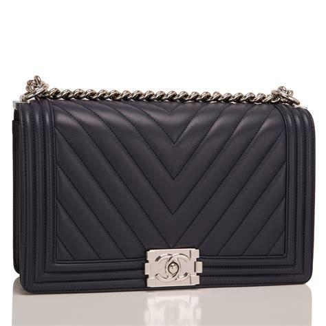 Chanel Boy Bag chanel navy chevron quilted lambskin new medium boy bag world s best
