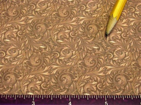Dollhouse Miniature Victorian Upholstery Fabric Light Brown
