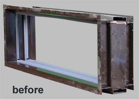 steel insert window integral window systems
