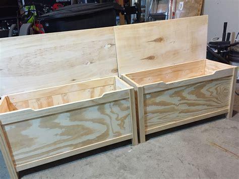 simple modern toy box  lid ana white