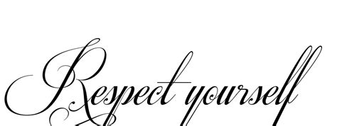 tattoo font respective slanted respect yourself tattoo in respective slanted font