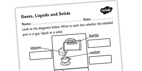 Solids Liquids And Gases Worksheets Middle School by Gases Liquids And Solids Worksheet Gases Liquids And Solids