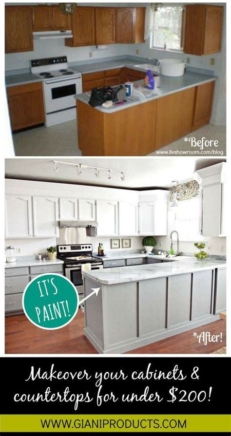 Updating Kitchen Cabinets On A Budget Kitchen Updates Countertop Paint And Cabinets On Pinterest