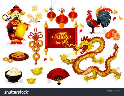 chinese new year greeting poster traditional stock vector
