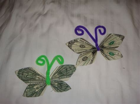 Origami Butterfly Money - money origami butterfly