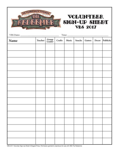 volunteer sign up sheet templates 10 volunteer sign up sheet templates pdf free
