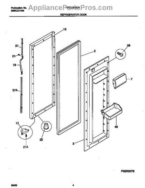 parts for frigidaire frs26wqhd1 refrigerator door parts
