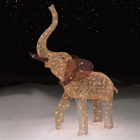 trim a home lights trim a home 174 54 quot golden elephant with 200 clear lights