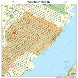New York New Jersey Map by West New York New Jersey Street Map 3479610