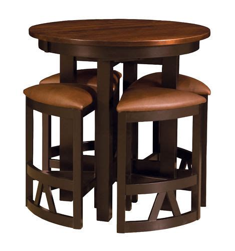 Dining Table With Bar Stools Amish Pub Table Chairs Set Bar Height High Dining Stools Modern Solid Wood New Ebay