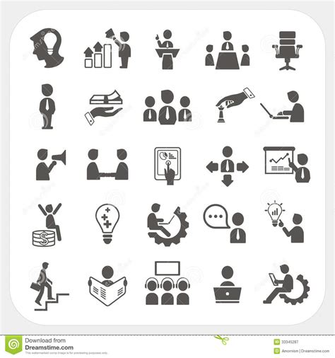 Vector Business Icons Set Royalty Free Stock Photos Image 1095468 Management And Business Icons Set Stock Vector Illustration Of Data Marketing 33345287