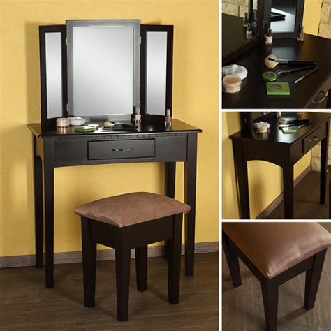 Make Up Table by Make Up Table Stool Mirror Dressing Table Dressing Console Brown Ebay