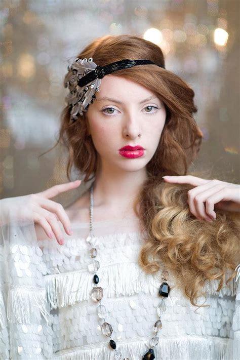wedding hair accessories black black great gatsby headband 1920 s flapper headpiece