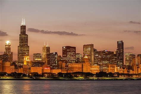 chicago skyline wall mural glowing chicago skyline wallpaper wall mural self