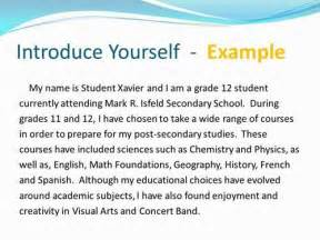 Exles Of Essay About Myself by Introduce Yourself Essay Language123