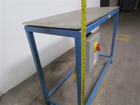 heated bench industrial heated bench w 1 2 quot tx18x48 3 4 quot aluminum top
