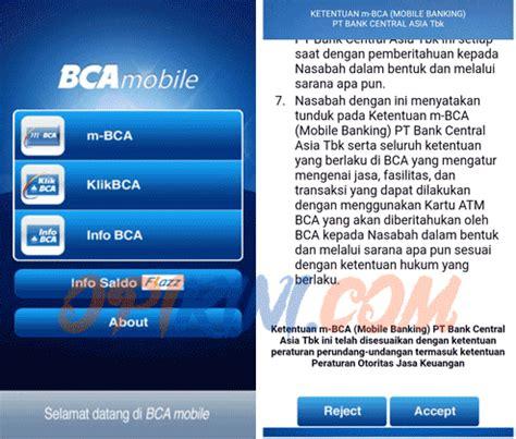 bca m banking cara daftar mobile banking bca dan aktivasi m bca di
