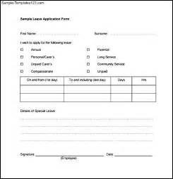 example leave form sample templates nomination forms