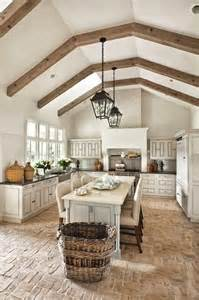 Brick Kitchen Floor 30 Practical And Cool Looking Kitchen Flooring Ideas Digsdigs