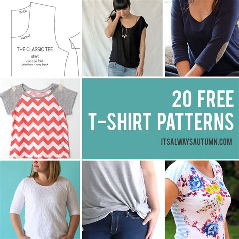 20 free t shirt patterns you can print sew at home it 20 free t shirt patterns you can print sew at home it