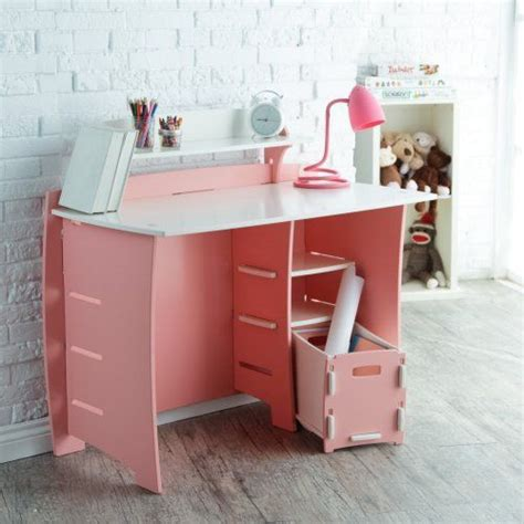 white and pink desk 200 legare 43 in desk with shelf and file cart pink