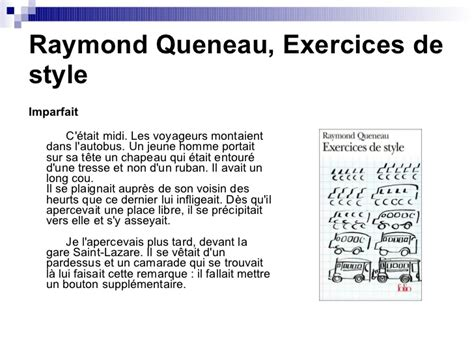 exercices de style 2070373630 lecture 3 les temps du pass 233 3