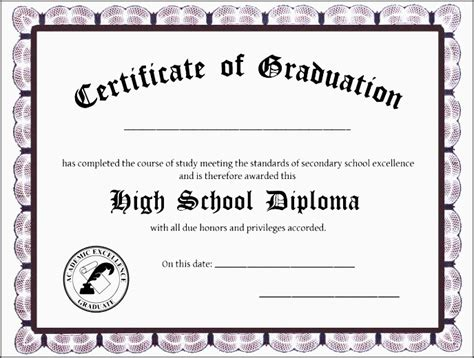 Free Ged Certificate Templates On How To Make A Fake Ged Ged Certificate Template