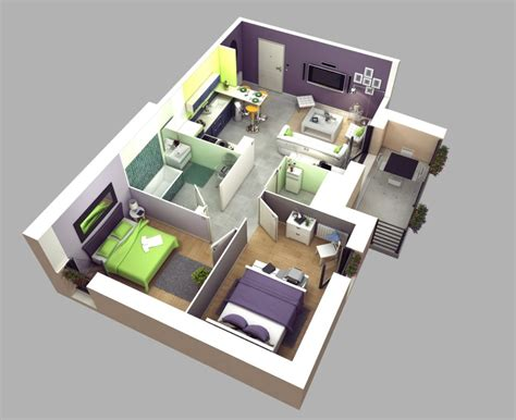 home design 20 50 home design two quot quot bedroom apartment house plans