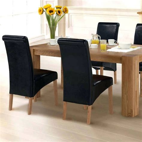 chocolate leather dining chairs rustic room tables for