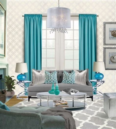 Teal And Gray Curtains Decorating Teal Living Rooms Teal Living Room For The Home Pinterest