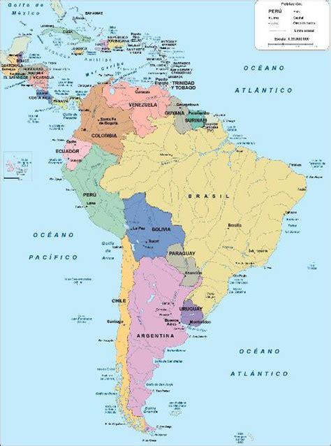 mapa politico de america con todos los paises mapas de continentes digitales