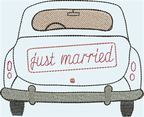 Just Married Auto Zum Ausdrucken by Stickdatei Stickmuster Quot Just Married Quot Stickdateien Shop De