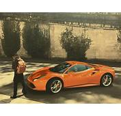 Travis Scotts Burnt Orange Ferrari 488  Celebrity Cars Blog