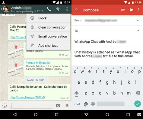 chat on android how to send whatsapp chats by email